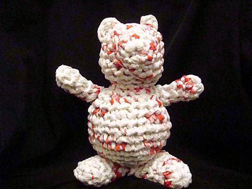 Plarn amigurumi bear