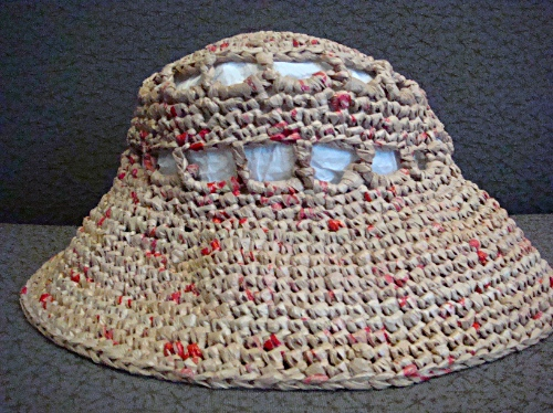 Crocheting With Plarn : Plastic Bag Crafts ? Blog Archive ? Plarn Sun Hat